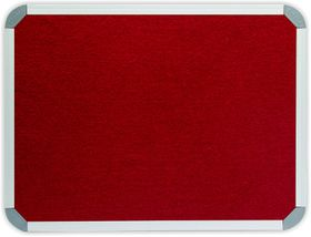 Parrot Info Board Aluminium Frame - Burgundy Felt (1200 x 1000mm)