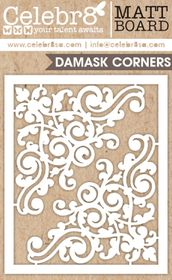 Celebr8 Picture Perfect Matt Board Midi - Damask Corners