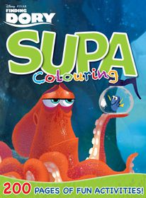 Finding Dory 200 Page Supa Colouring Book