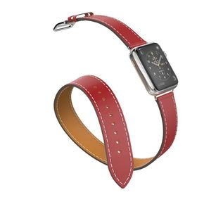 Tek88 Apple Watch 38mm Hermes Berry Leather Double Tour
