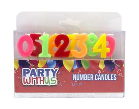 Party with Us Number Candles 0 to 9