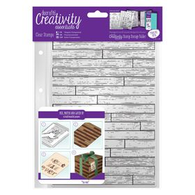 Docrafts Creativity Essentials A5 Clear Stamp Set - Wooden Boards Background
