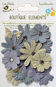 Little Birdie Butterflies N' Blooms - Driftwood Grey