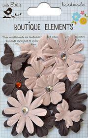 Little Birdie Butterflies N' Blooms - Clay Caramel