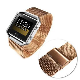 Tuff-Luv Stainless Steel Wristband for the FitBit Blaze - Gold