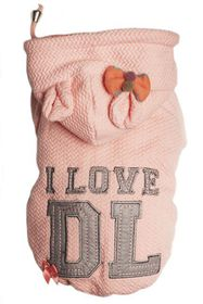 Dog's Life - I Love DL Hoodie - Pink Extra Small