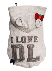 Dog's Life - I Love DL Hoodie - Grey Small