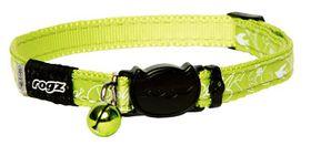 Rogz - Silky Cat Safeloc Breakaway Collar - Lime Filigree Design