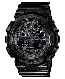 Casio Mens GA-100CF-8ADR G-Shock Anadigital Watch