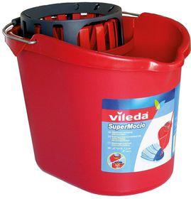 Vileda Oval Bucket And Wringer - Red