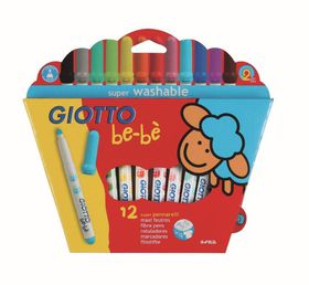 Giotto Be-Be 12 Super Fibre Tip Pens