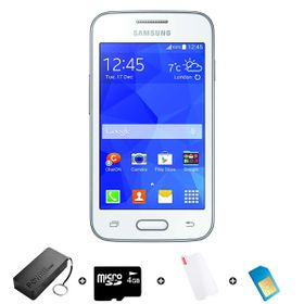 Samsung Trend Neo 4GB 3G White - Bundle 6 incl. 1.2GB Starter Pack + Accessories