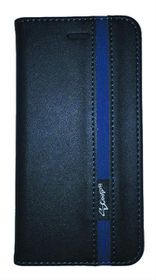 Scoop Executive Folio For Samsung S6 Edge - Black & Blue