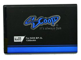 Scoop Battery For Nokia Asha 303 & Lumia 510 & 610 & 710 (BP-3l)