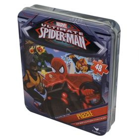 Spiderman Puzzle In Tin - 48 Piece