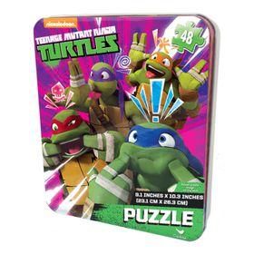 Teenage Mutant Ninja Turtle Puzzle In Tin - 48 Piece