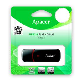 Apacer AH333 64GB USB2.0 Flash Drive - Black