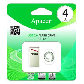 Apacer AH112 4GB USB2.0 Flash Drive - Red