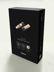 Apacer AH650 32GB USB3.0 Fingerprint Flash Drive - Gold