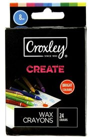 Croxely Create 8mm Jumbo Wax Crayons (Box of 24 Colours)