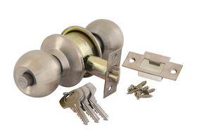Yale - Round Cylindrical Knob Set - Satin Silver