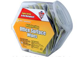 Falcon Dust-Off Disinfecting Office Surface Wipes Share Pack Jar of 75 Packets