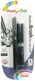 Pentel Pocket Brush Pen Plus 4 Refills