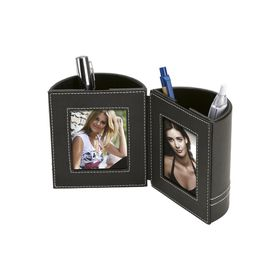 Eco Dual Pen Holder with 2 Photo Frames