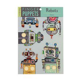 Mudpuppy Finger Puppets Robots