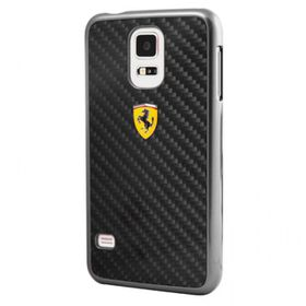 Ferrari Samsung Galaxy S5 Real Carbon Hard Case - Black