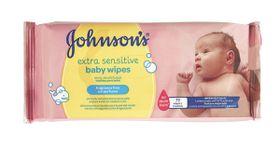 Johnson and Johnson - Extra Sensitive Fragrance Free Wipes - 72's