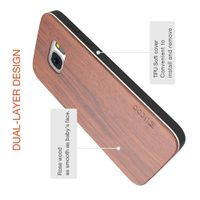 Slicoo Wood Bamboo Slim Protective Case for Galaxy S7 (2016) - Rosewood