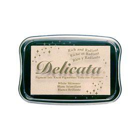 Tsukineko Delicata Ink Pad - White Shimmer