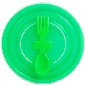 Lumo - Bowl with Slip Lid And Fork Spoon - Green