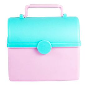 Lumoss - Treasure Chest Lunch Box - Baby Pink and Mint