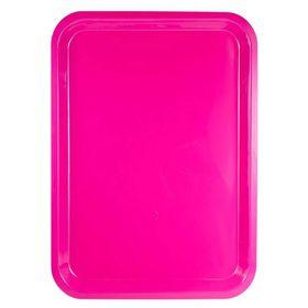 Lumo - Plastic Rectangle Tray 42cm x 30cm - Magenta