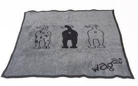 Wagworld - Winter Blankie Grey and Black - Extra Large