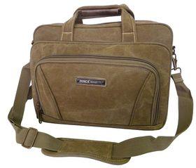 Tosca 15 inch Canvas Laptop Briefcase - Khaki