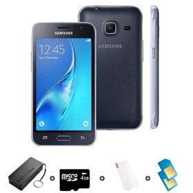 Samsung GALAXY J1 Mini DS 8GB 3G - Black - Bundle incl. R600 Airtime + 1.2GB Starter Pack + Accessories
