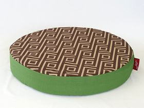 Wagworld - Lazy Lounger Round - Geo Camel & Green