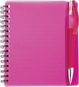 Holbay Pens Plasma A6 Spiral Notebook & Pen - Pink