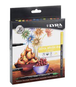 Lyra 24 Aqua Brush Duo Fibre Pens