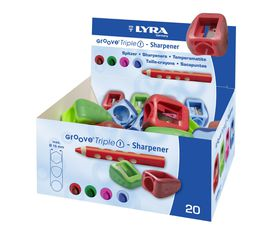 Lyra Groove TripleOne Sharpeners - Display Box of 20
