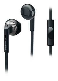 Philips SHE3205 In-Ear Headphones with Mic - Black
