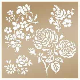 Couture Creation Anna Griffin 8 x 8 Stencil - Secret Garden