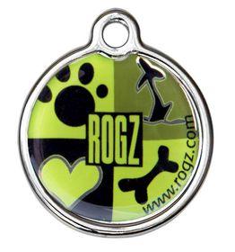 Rogz - 3.1cm ID Tagz Metal Tag - Lime Juice Design