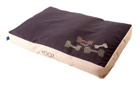 Rogz - Medium Flat Pod Dog Bed - Mocha Bone Design