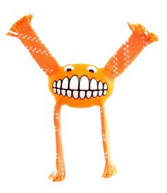 Rogz - 19cm Flossy Grinz Oral Care Dog Toy - Orange