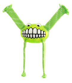 Rogz - 23cm Flossy Grinz Oral Care Dog Toy - Lime