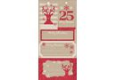 Christmas Sparkle Stick-on Labels - Pack of 20